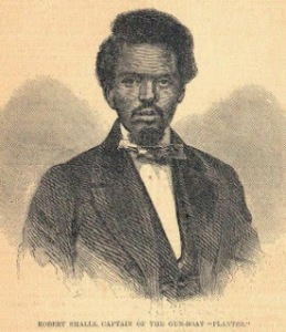 "Robert Smalls Captain of the Gun-boat ""Planter"" (From Harper's Weekly, June 14, 1862, Beaufort District Collection, Beaufort County Library, SC)"